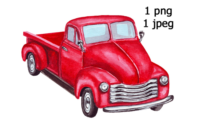red-truck-watercolor