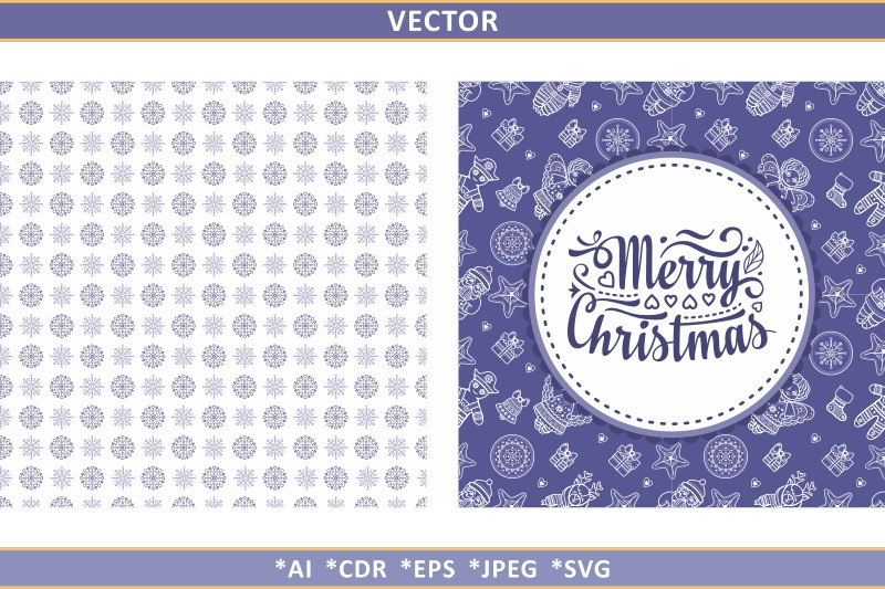 christmas-seamless-pattern-and-lettering-greeting-card