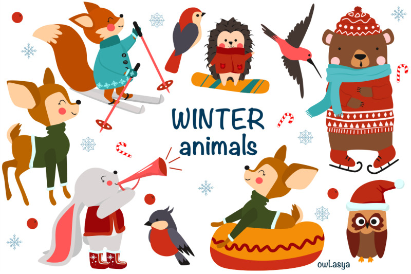 winter-animals