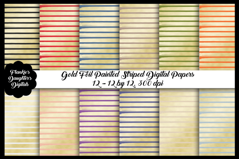 gold-foil-painted-stripe-digital-papers