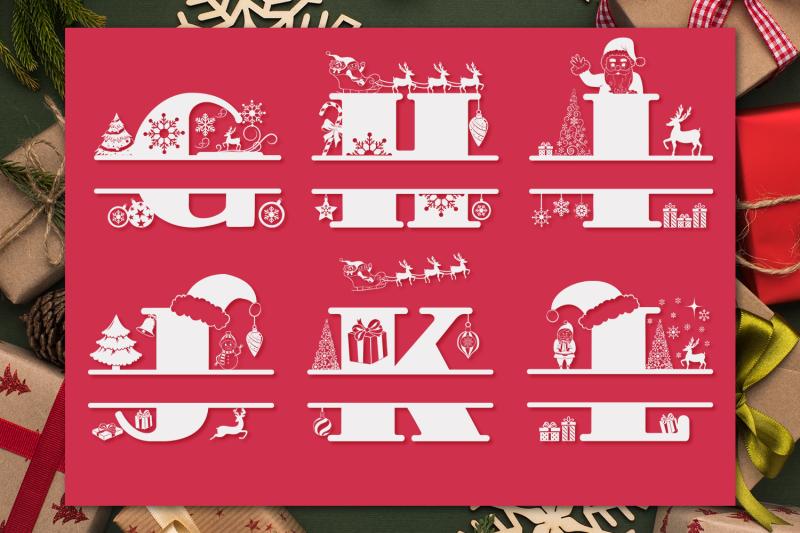christmas-monogram-font-christmas-split-font
