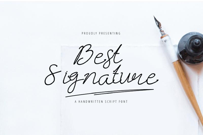 best-signature-font