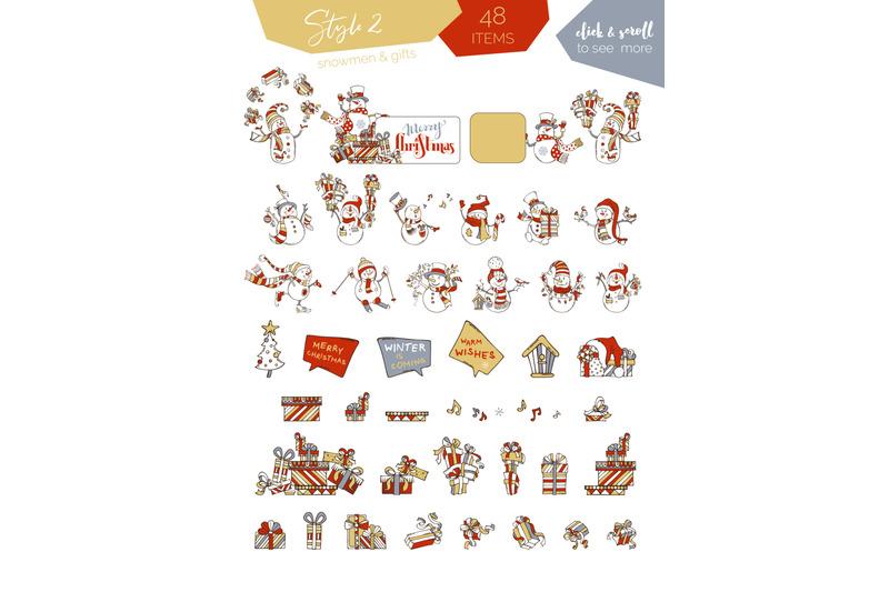 cute-snowmen-set