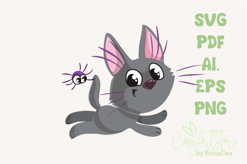 black-kitten-svg-download-cute-cat-png-grey-kitten-with-spider-hallo