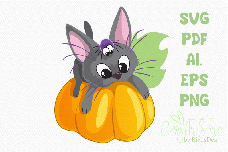 Download Black kitten on Pumpkin SVG download, Cute cat PNG, kitten ...