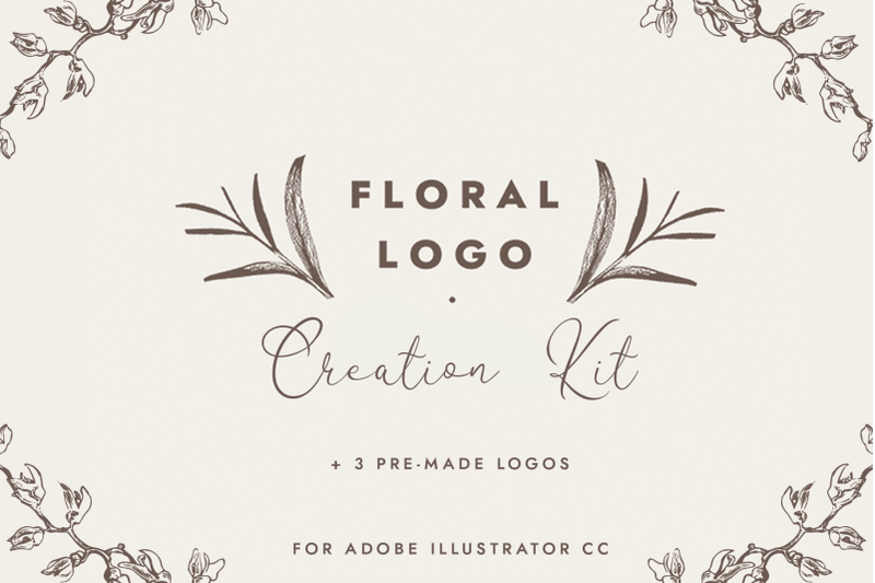floral-logo-creation-kit