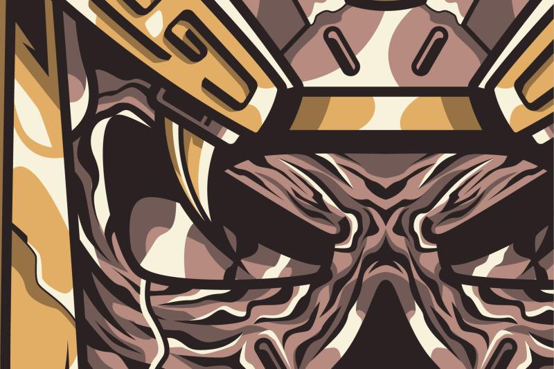 aztec-skull-t-shirt-illustration