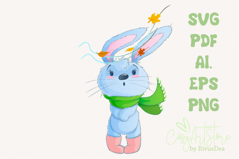 bunny-svg-download-autumn-leaves-rabbit-png-hare-cute-baby-animal