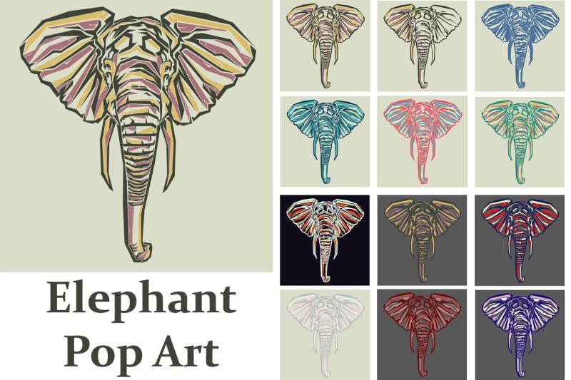 elephant-pop-art