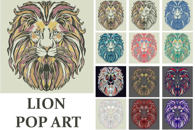 lion-pop-art-style