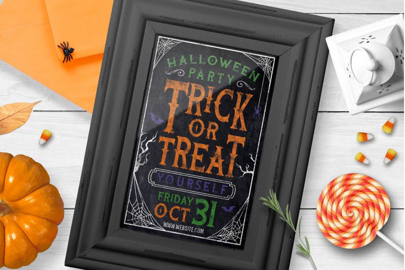 chalk-halloween-party-flyer-invite