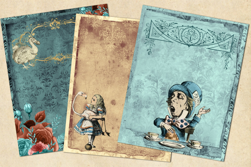 whimsical-alice-journal-paper