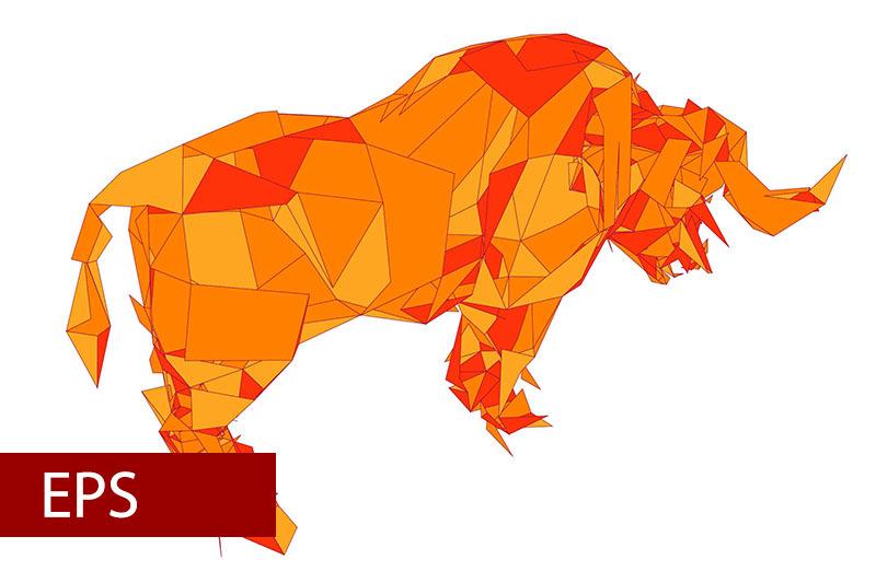 mosaics-a-buffalo-abstract-a-buffalo