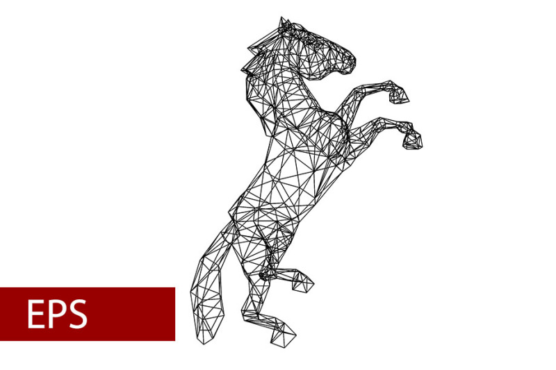 mosaics-a-horse-abstract-a-horse-pop-art-a-horse-lowpoly-a-horse