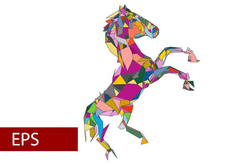 mosaics-a-horse-abstract-a-horse-pop-art-a-horse-lowpoly-a-horse