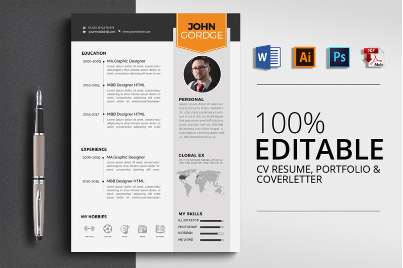 3-pages-cv-resume-word-template