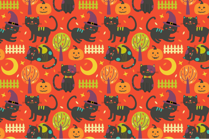 halloween-pattern-collection