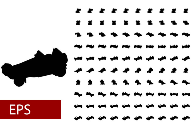 100-sets-of-silhouette-car-rotations