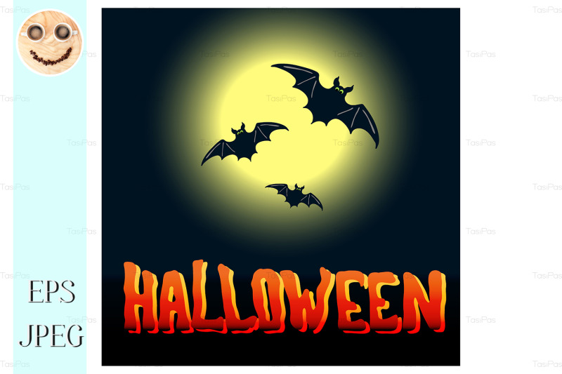 halloween-flyer-with-flying-bats-and-full-moon-over-midnight-backgroun