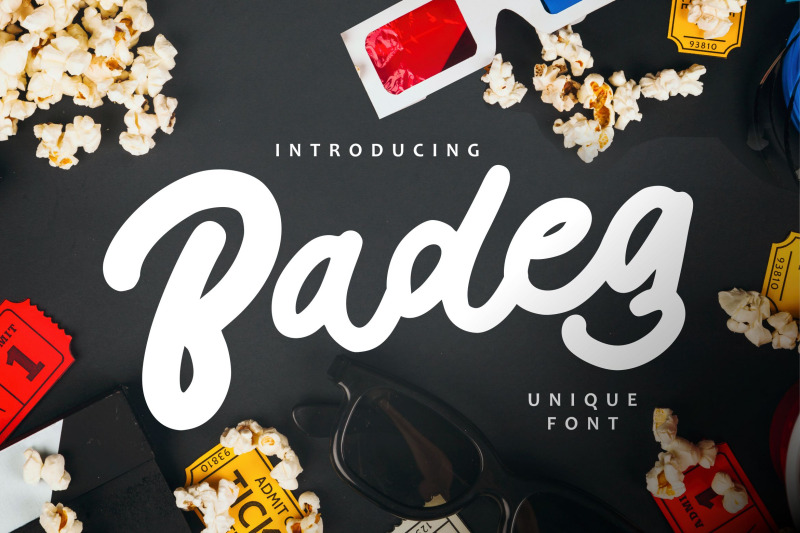 badeg-unique-font