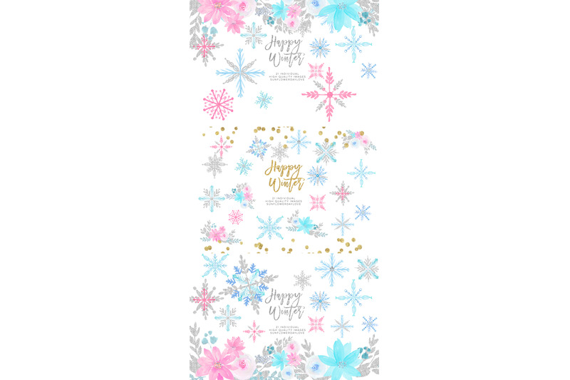 winter-onederland-clipart-winter-snowflakes-clipart