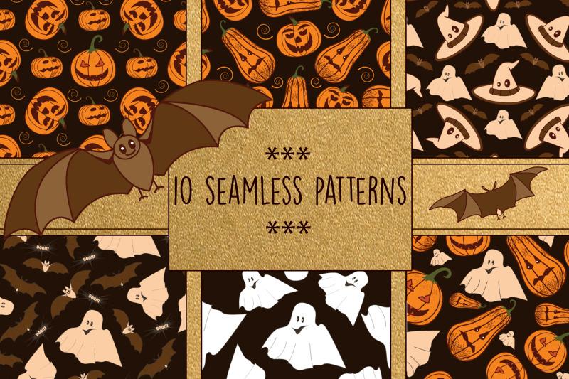 merry-halloween-seamless-patterns