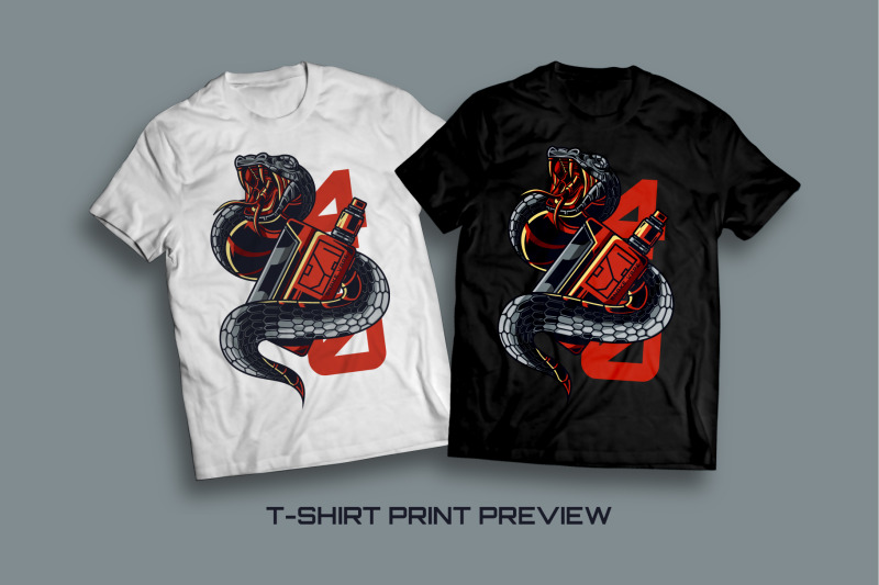 snake-vape-t-shirt-illustration