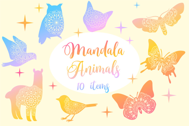 mandala-animals-collection