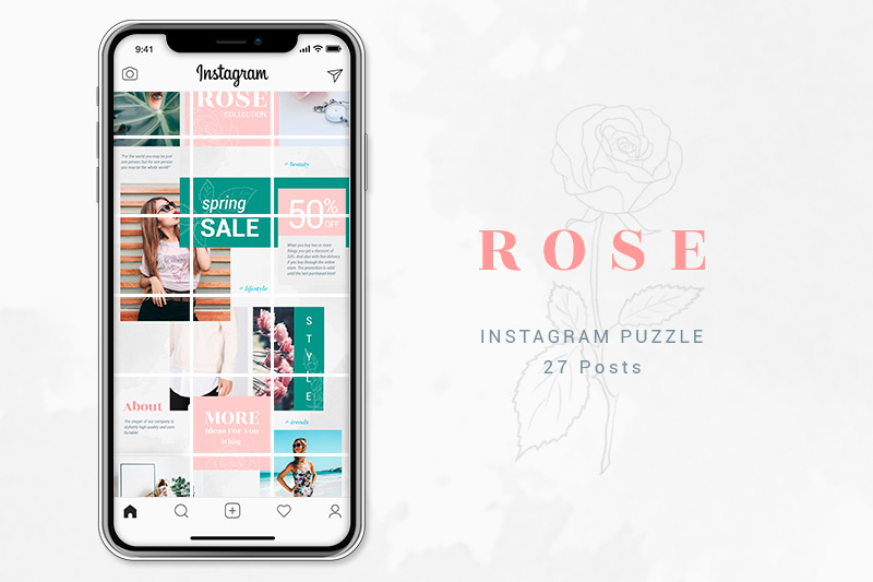 instagram-puzzle-template-rose