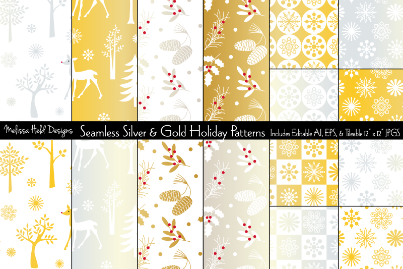 seamless-silver-amp-gold-holiday-patterns