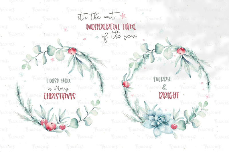 christmas-wreaths-set