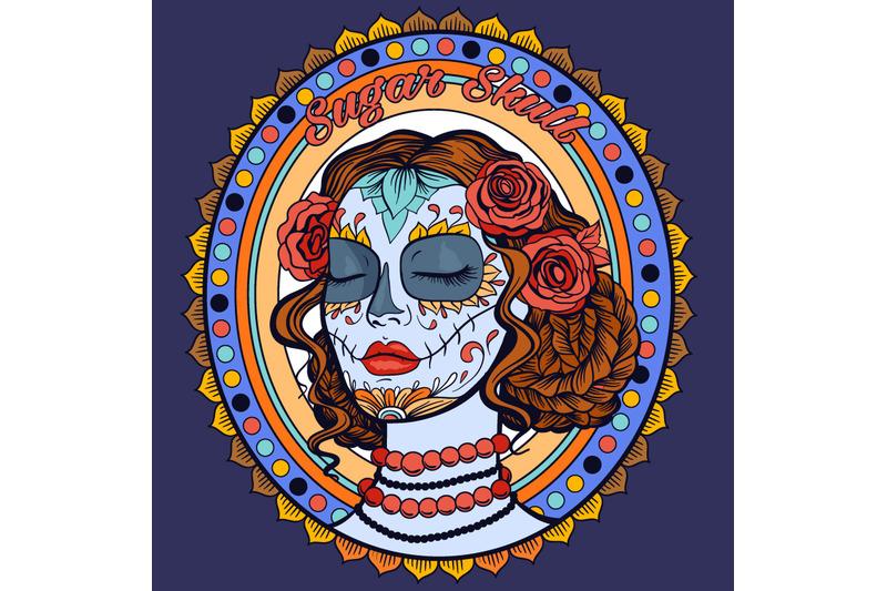 sugar-skull-lady-coloring-page-svg-cut-file