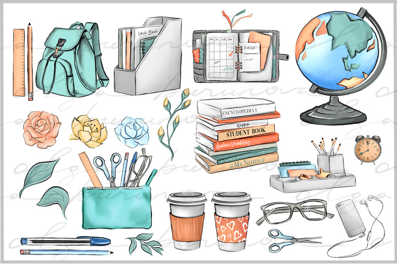 school-elements-student-girl-clipart