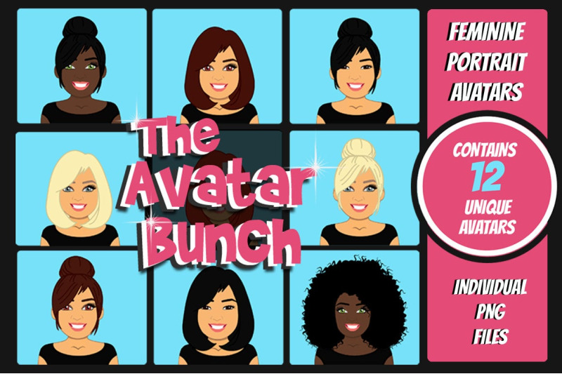 the-avatar-bunch-female-avatars