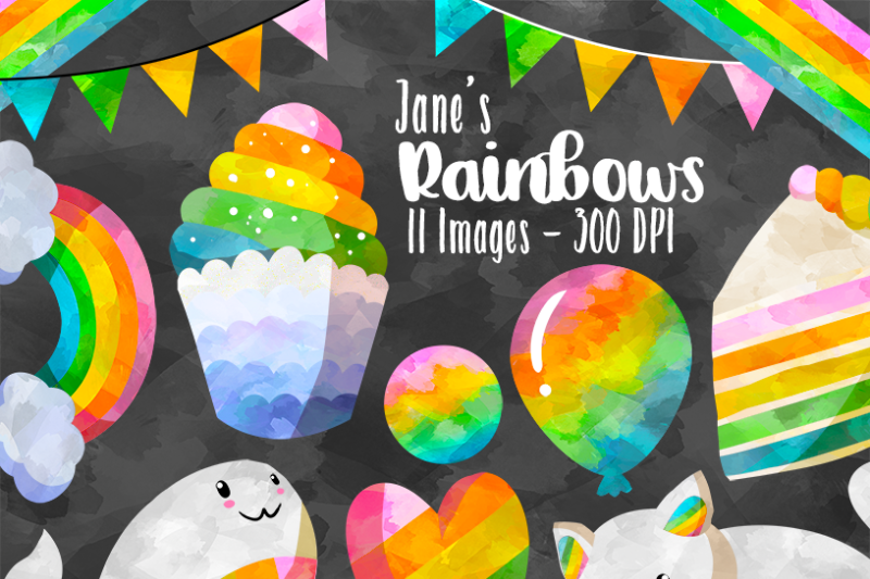 watercolor-rainbow-party-supplies