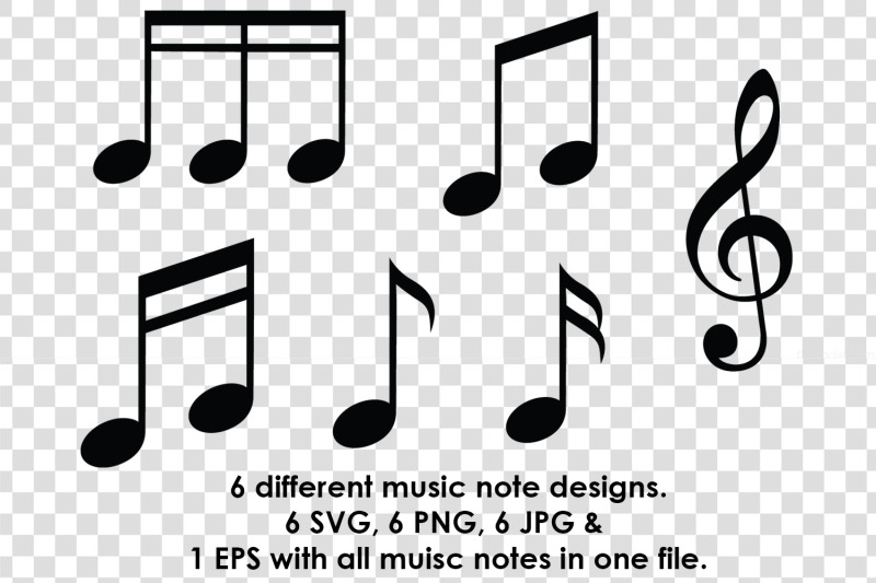 music-note-silhouette-svg-clipart-bundle