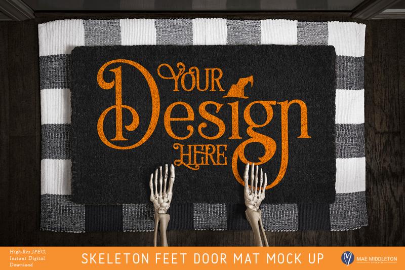halloween-black-door-mat-mock-up-skeleton-feet