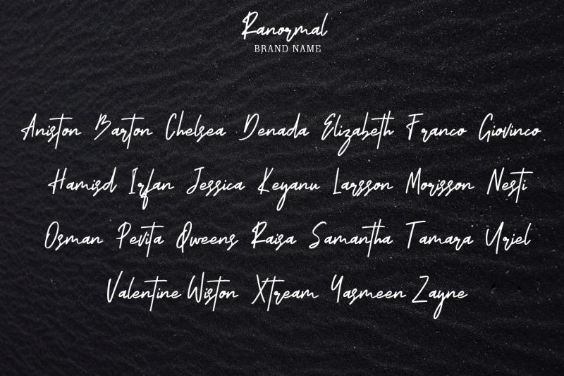 ranormal-typeface-signature