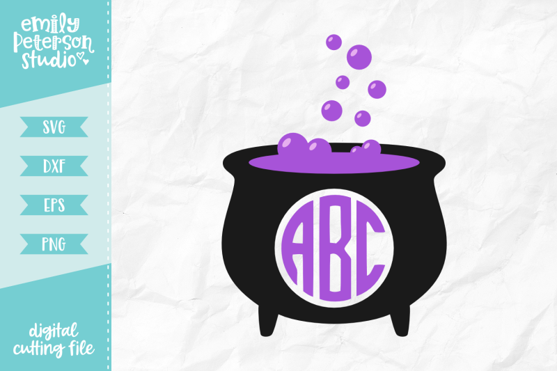 cauldron-monogram-svg-dxf
