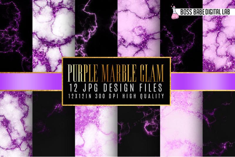 purple-glam-marble-digital-paper
