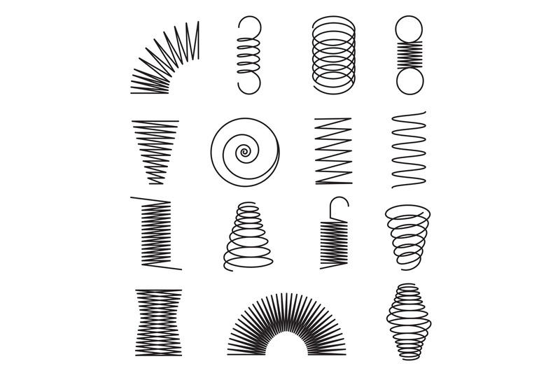 metal-springs-spiral-lines-coil-shapes-isolated-vector-symbols