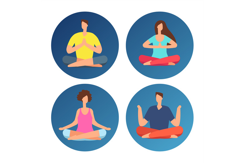 icons-with-meditation-people-in-lotus-position