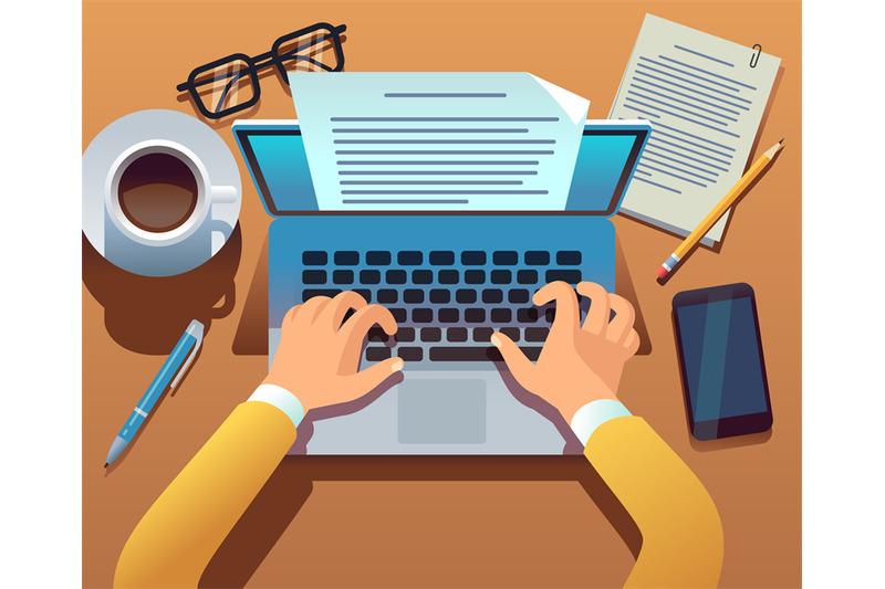 writer-writes-document-journalist-create-storytelling-with-laptop-ha