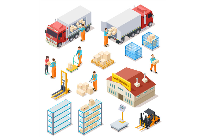 delivery-isometric-logistic-distribution-warehouse-truck-with-peopl
