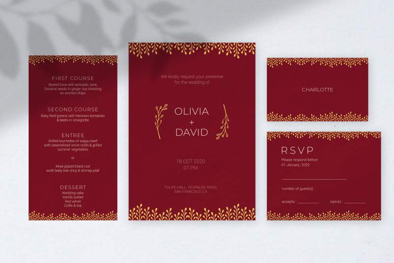 burgundy-wedding-invitations