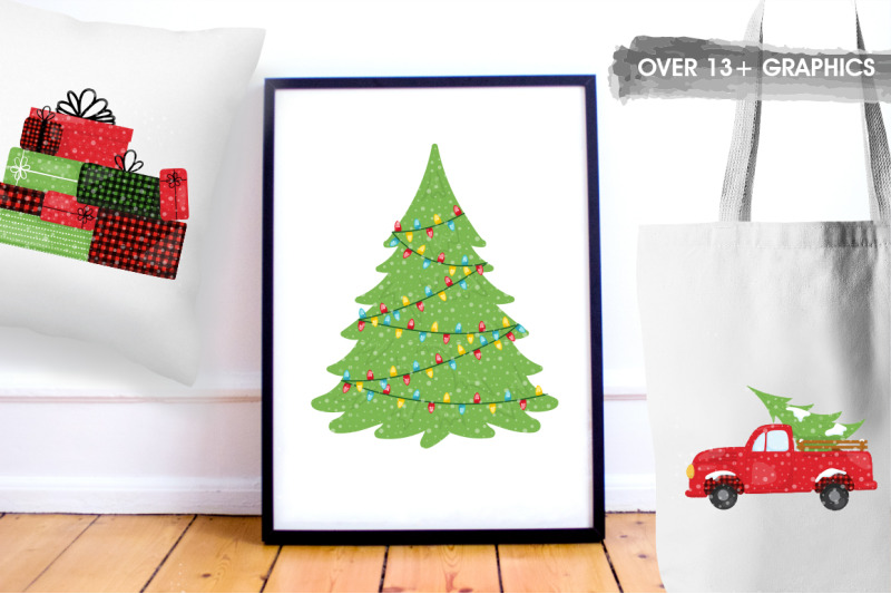 The Ginormous Christmas Clipart Bundle By Thehungryjpeg