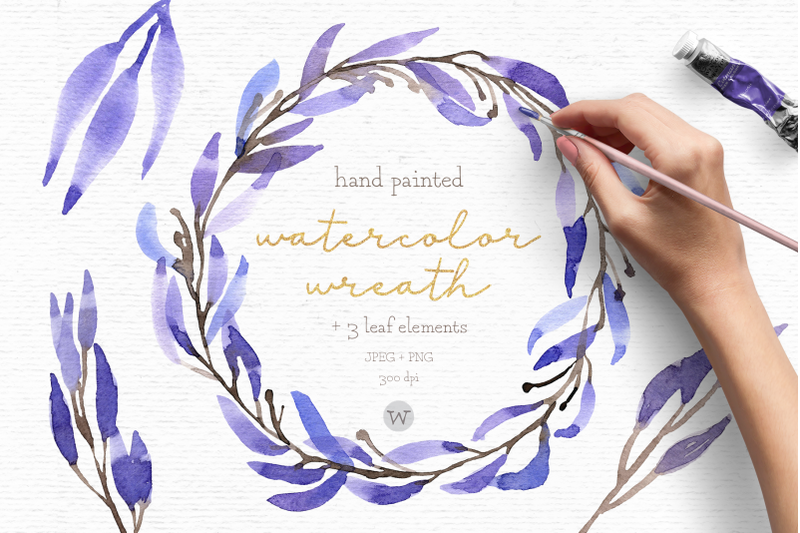 watercolor-wreath-clipart-wedding-clipart-floral-wreath