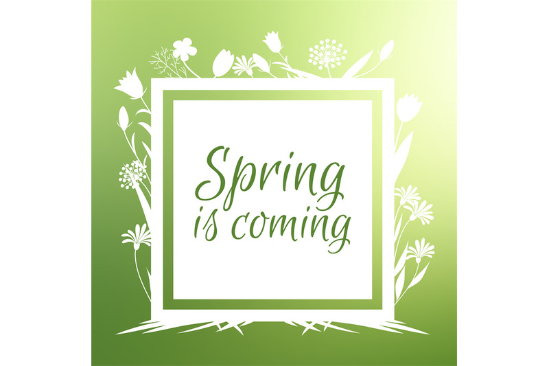 spring-is-coming-banner-and-vector-design-with-flowers-sihouettes