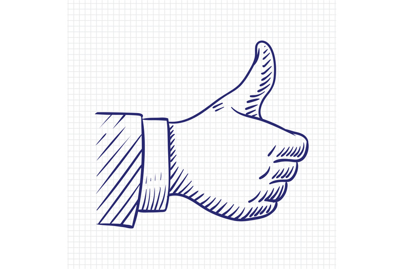 thumbs-up-like-hand-sketch-vector-illustration