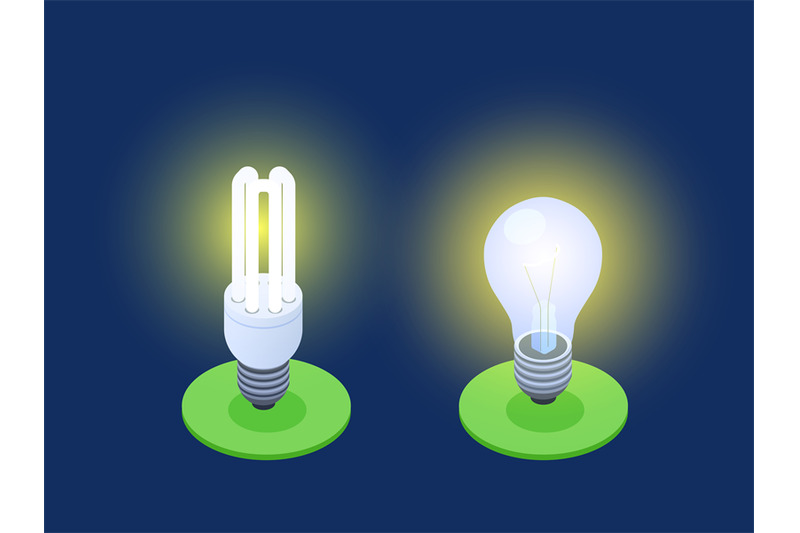 energy-saving-and-led-lamps-isometric-vector-illustration